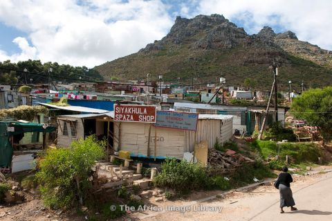 Slums in Imizamo Yethu township, Hout Bay, Cape Town, South Africa