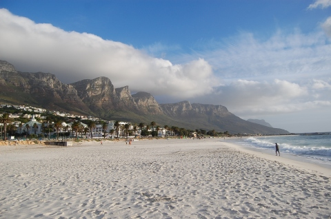 en stille morgen på stranden