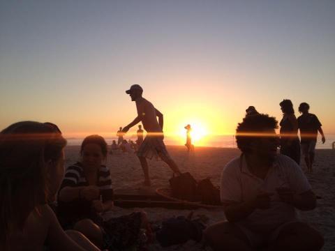 kosestunder med solnedgang og gode venner!